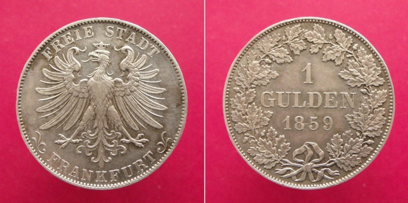 Alemania - Frankfurt, 1 Gulden de 1859