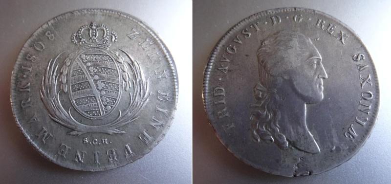 SAJONIA - Federico Augusto I - Thaler - 1808