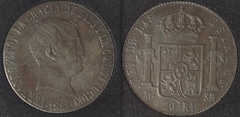 20 Reales de Fernando VII