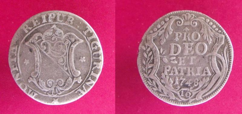 Suiza - Canton de Zurich. 10 Schilling de 1748