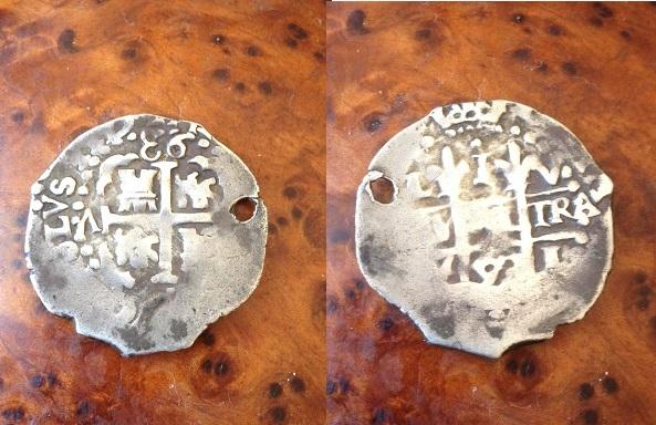 real macuquino de carlos ii 1693 ceca lima material plata.