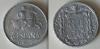 5 céntimo de la época de Franco de 1941. Aluminio, 1,25 gramos de peso. En anverso jinete con lanza a derechas y reverso águila de San Juan.