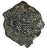 Prutah /moneda de Bronce / Procurador Romano en Judea Poncio Pilato entre los años 26-36 DC. Anverso:Tiberius Caesar,TIBEPOY KAICAPOC en griego. Baculo o Cayado usado por los augures. Reverso:LIZ /indica año 17 (dentro de corona) del Reinado de Tiberio(30-31 DC) dentro de corona. 16 mm / 2.1grs.