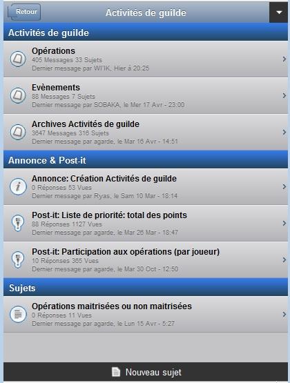 Version mobile du forum Forum-14