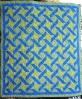 "Ribbon Quilt using Elenore Burns ""True Blue"" 95x83"