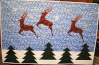 DDIL's requested Christmassy table runner; 26x40 inches; Quiltmaker mag, Nov/Dec 2008; Paulette Peters, designer; snowflakes from Amazon