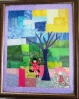 """Analee Hooey design. Appliqued then all free motion stitched.  11x14"""""""