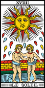Comparación cartas Marsella y Rider-Waite: El Sol 4220572226