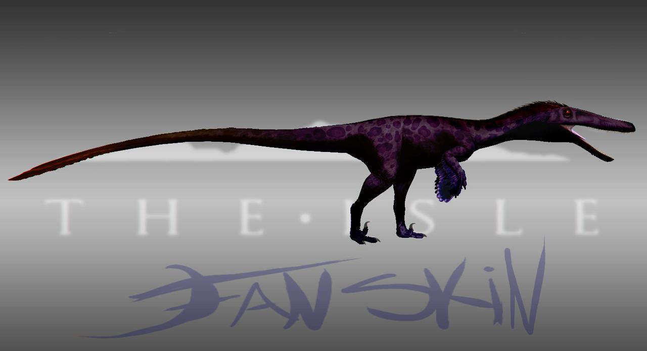 Melanistic Leoparaptor Austroraptor Skin