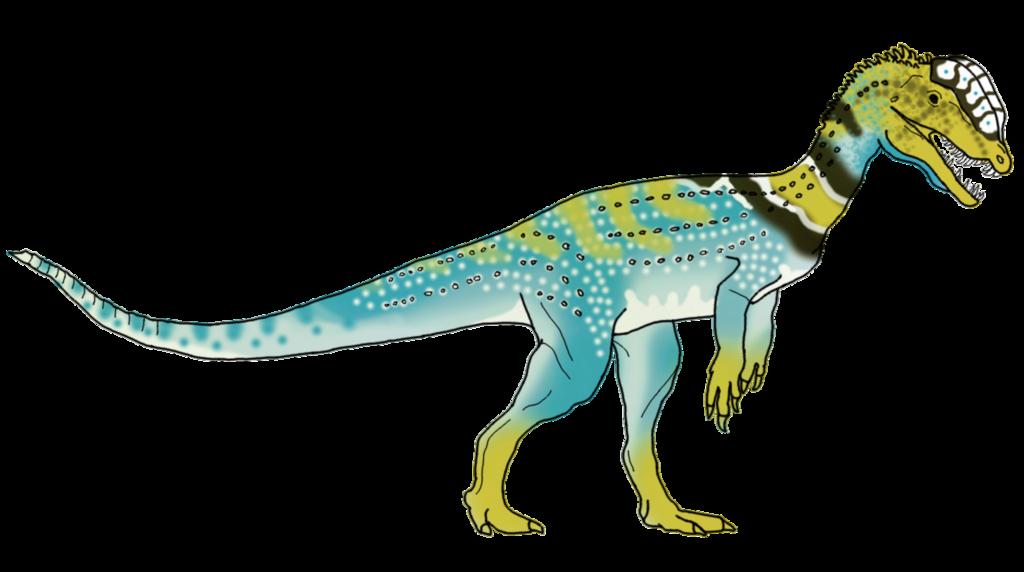 Collared Dilophosaurus Skin