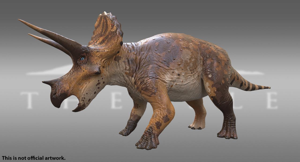 Caramel Triceratops Skin