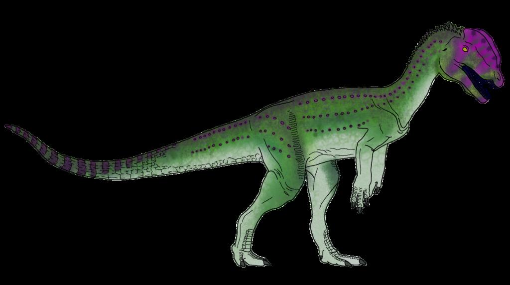 Poison-Type Dilophosaurus Skin