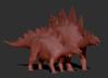 Official Juvenile Stegosaurus Model Art