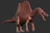 Official Quadrupedal Spinosaurus Model Art the Isle.