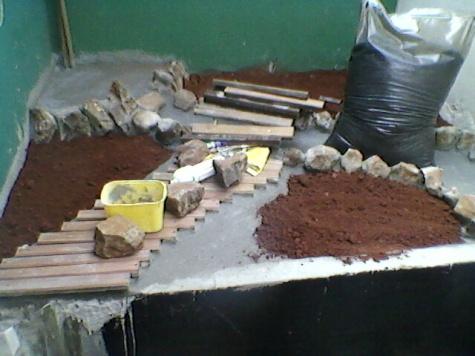 construção do lago