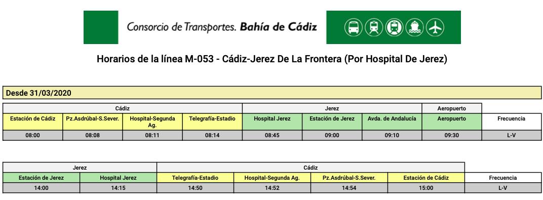 M-053 CÁDIZ-JEREZ DE LA FRONTERA (Por Hospital de Jerez) M053_010