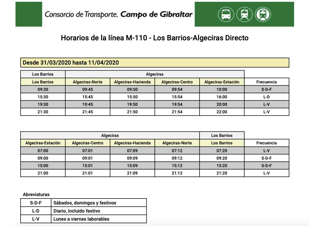 M-110 ALGECIRAS- LOS BARRIOS (Directo) M110_010
