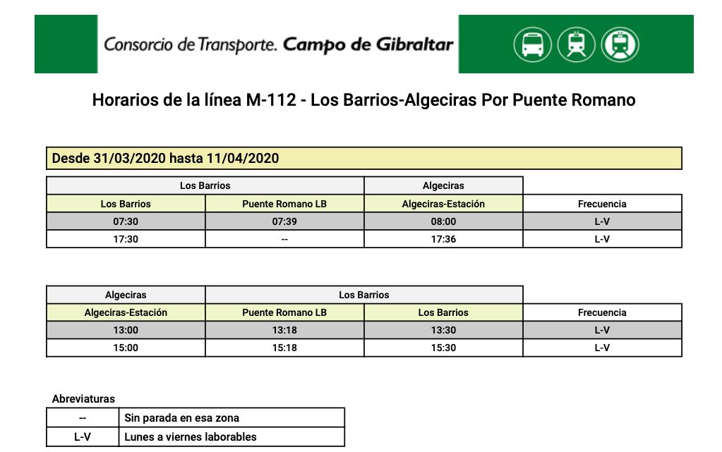 M-112 ALGECIRAS- LOS BARRIOS (Por Puente Romano) M112_010