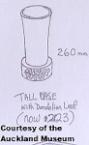2123 tall vase with dandelion leaf 8.12.77