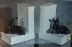 0567 bookends with deer [blanks supplied by crown lynn]