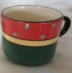 catherine anselmi, mug. watermelon pattern