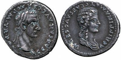 Moneda tipo Denario. Caligula y Agripina 466738.m